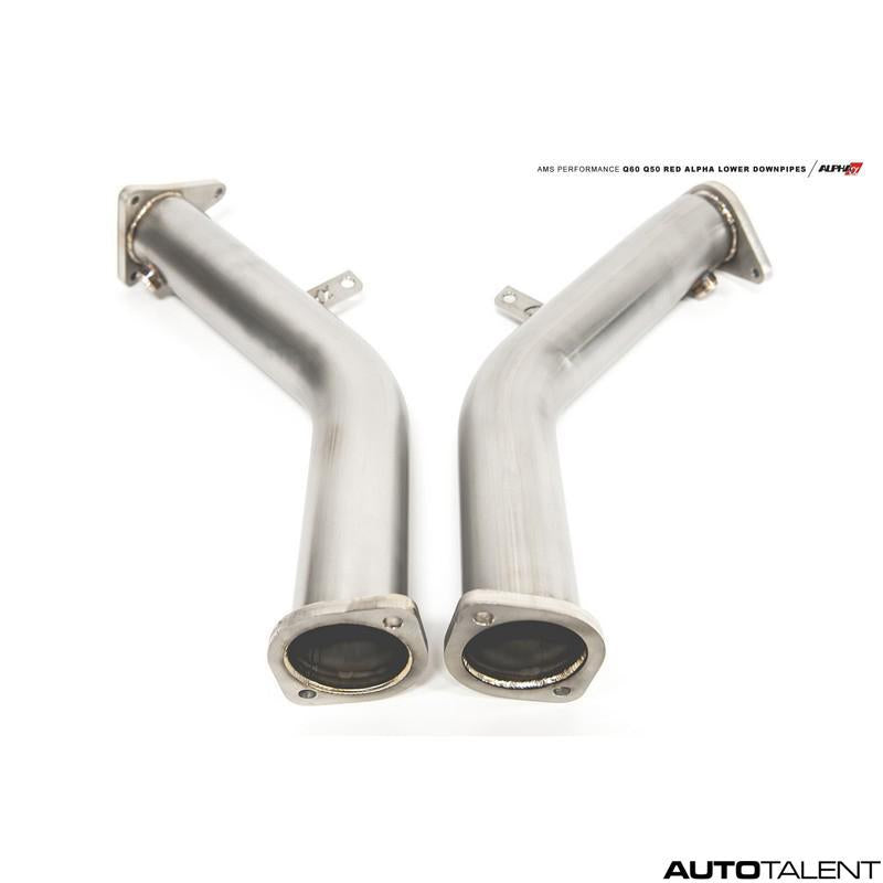 AMS Performance Alpha Catless Lower Downpipe Kit for Infiniti Q50, Q60 2016-2019