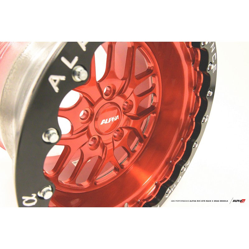 "Ams Performance Alpha Race X 15X12"" 2pc Rear Beadlock Wheel For Nissan GT-R R35"