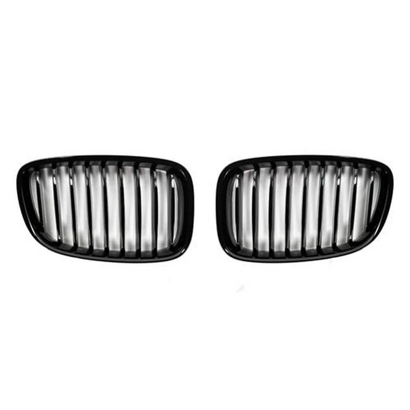 AutoTecknic Aero Replacement Glazing Black Front Grilles For BMW F07 550i - AutoTalent