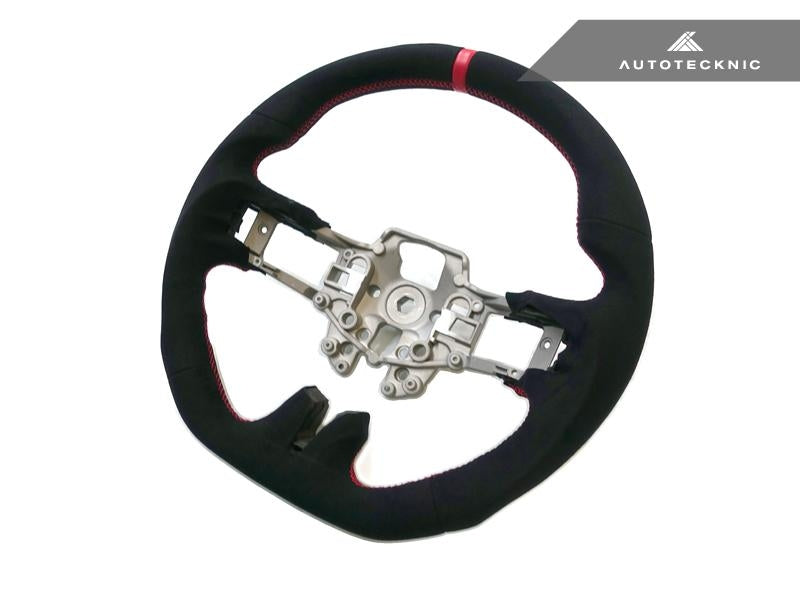 AutoTecknic Interior Replacement Carbon Steering Wheel For Ford Mustang