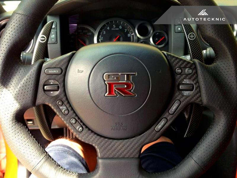 AutoTecknic Interior Steering Wheel Trim For Nissan GT-R - AutoTalent