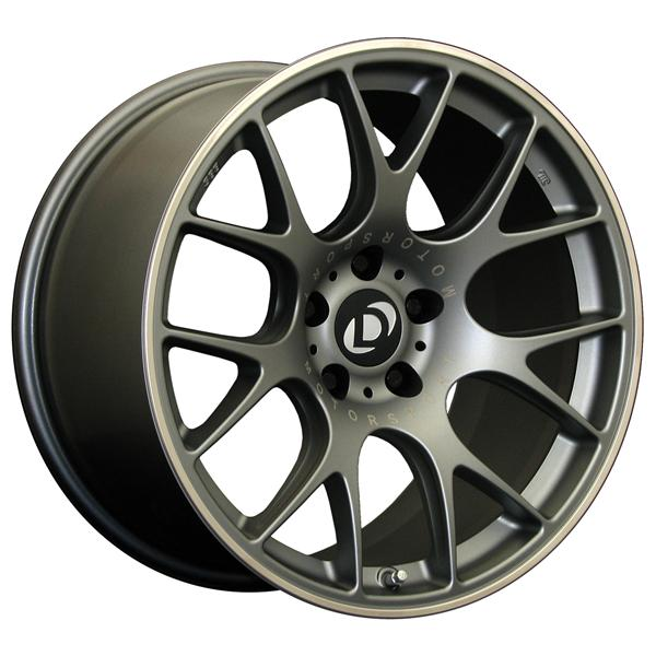 Titanium 19 inch BBS CH-R Wheel Set with Dinan logo center cap