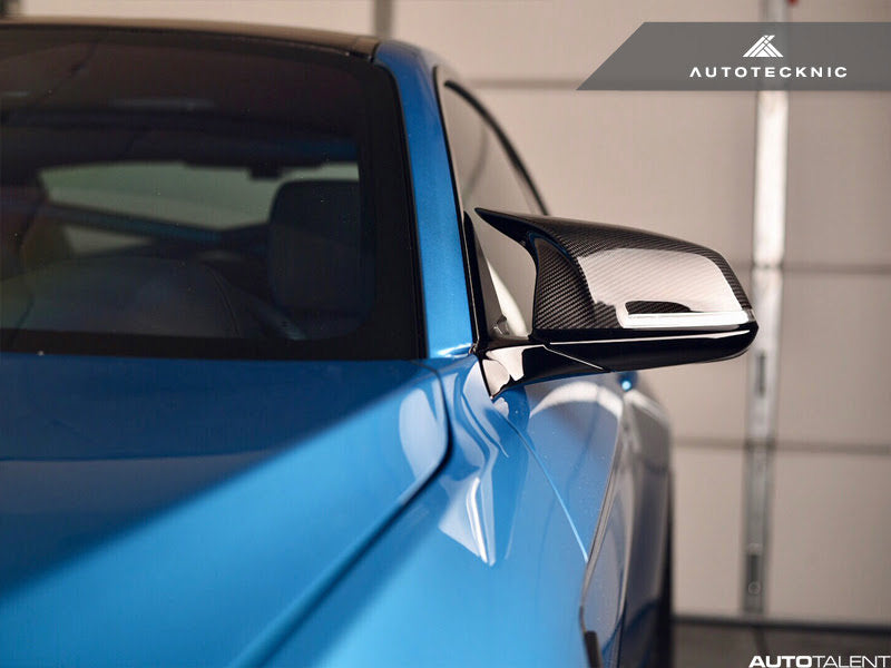 AutoTecknic Replacement Version II M-Inspired Dry Carbon Mirrors - BMW F3x 3/4-Series & M2 - autotalent