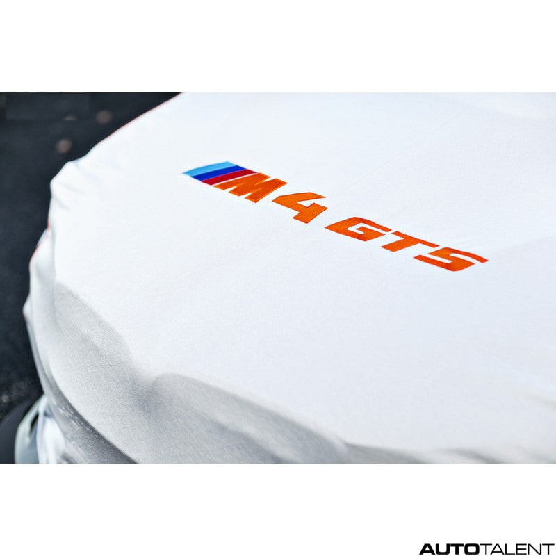RKP Car Cover Silver With Orange Lettering - BMW M4 GTS 2016-2019
