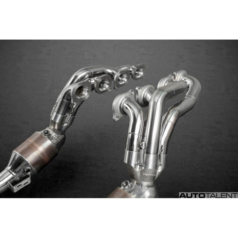Capristo Exhaust 200 Cell Sports Cat Headers with Post Cat Delete For Mercedes-Benz AMG C63 2008-2014
