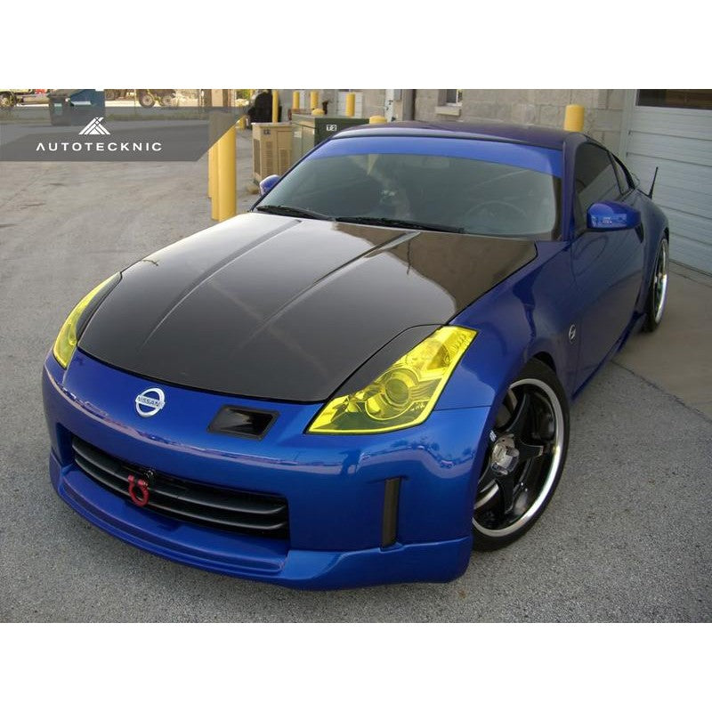 Autotecknic Aero Carbon Fiber Headlight Covers For Nissan 350Z - AutoTalent