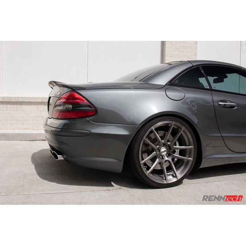 RennTech Aero Carbon Fiber Rear Deck Lid Spoiler For Mercedes-Benz R230 SL 63 AMG