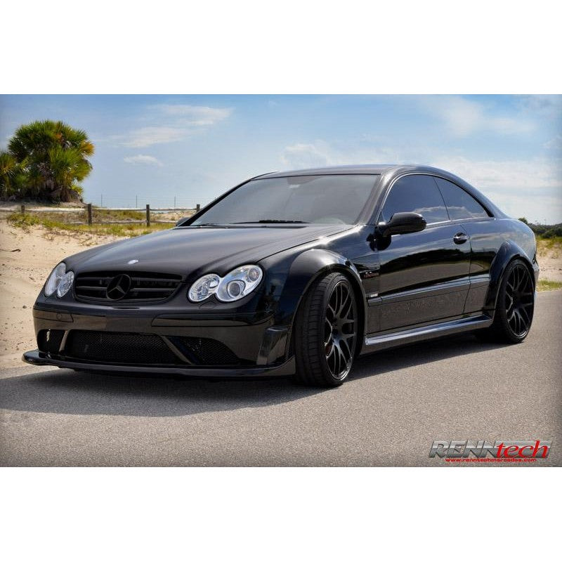 RennTech Aero Carbon Fiber Front Splitter For Mercedes-Benz C209 CLK 63 AMG Black Series