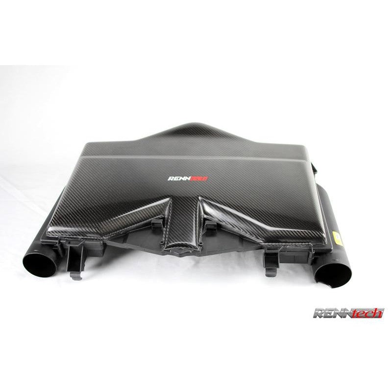 RennTech Carbon Fiber Flat Top Airbox For Mercedes-Benz C209 CLK 55 AMG