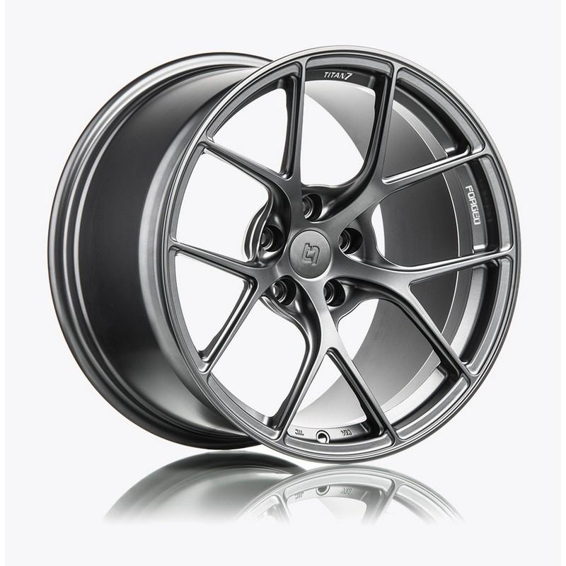 Titan 7 18 Inch T-S5 Satin Titanium Forged Wheels For BMW F80 M3, F8X M4 - AutoTalent