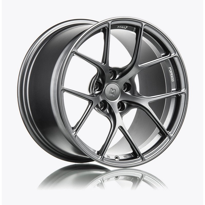 Titan 7 19 Inch T-S5 Satin Titanium Forged Wheels For Porsche Boxster, Cayman