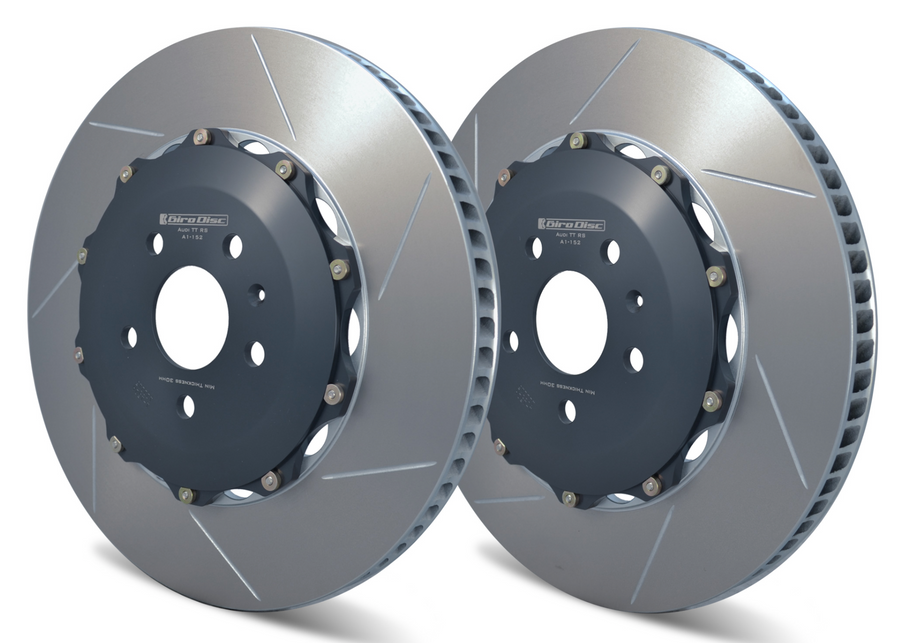 Girodisc Rear 2pc Floating Rotors for 8J Audi TT RS 2012 - 2014