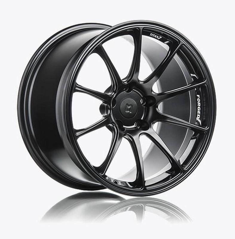 Titan 7 17 Inch T-R10 Machine Black Forged Wheels For Honda S2000 AP1, AP2 - AutoTalent