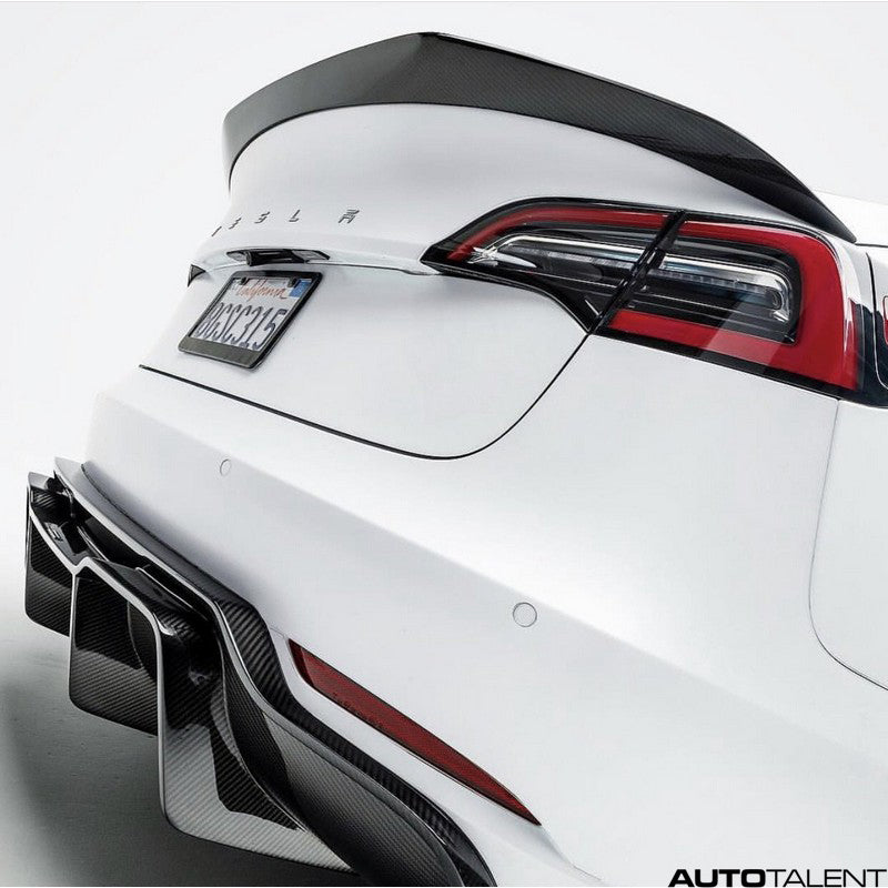 Vorsteiner Volta Aero Rear Diffuser Track Edition Carbon Fiber For Tesla Model 3 2018-2019