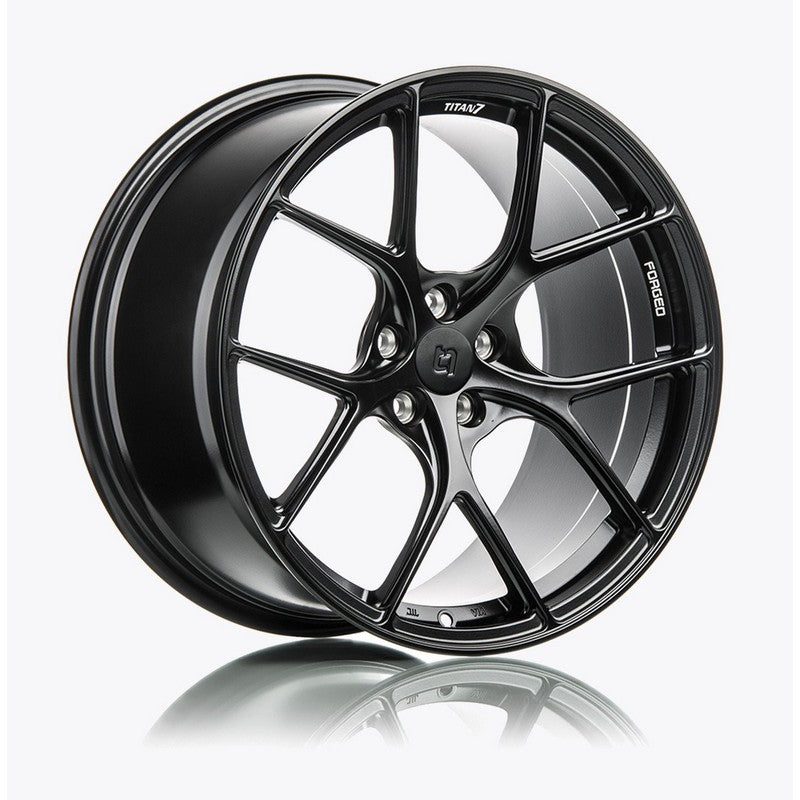 Titan 7 18 Inch T-S5 Machine Black Forged Wheels For Honda Civic Type R - AutoTalent