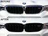 AutoTecknic Replacement Gloss Black Front Grille Surrounds - F90 M5 - autotalent