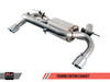 AWE Tuning BMW F3X 335i/435i Touring Edition Axle Back Exhaust - Diamond Black Tips (102mm) - autotalent