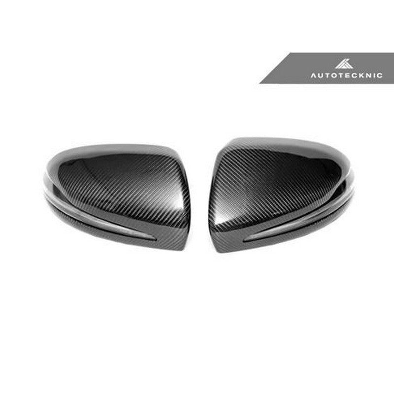 AutoTecknic Aero Replacement Carbon Mirror Covers For Mercedes-Benz C Class W205