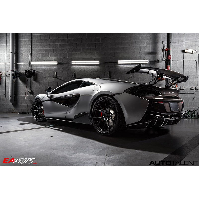 1016 Industries Aero Carbon Rear Race Wing with Tips For Mclaren 570S 2015-2019