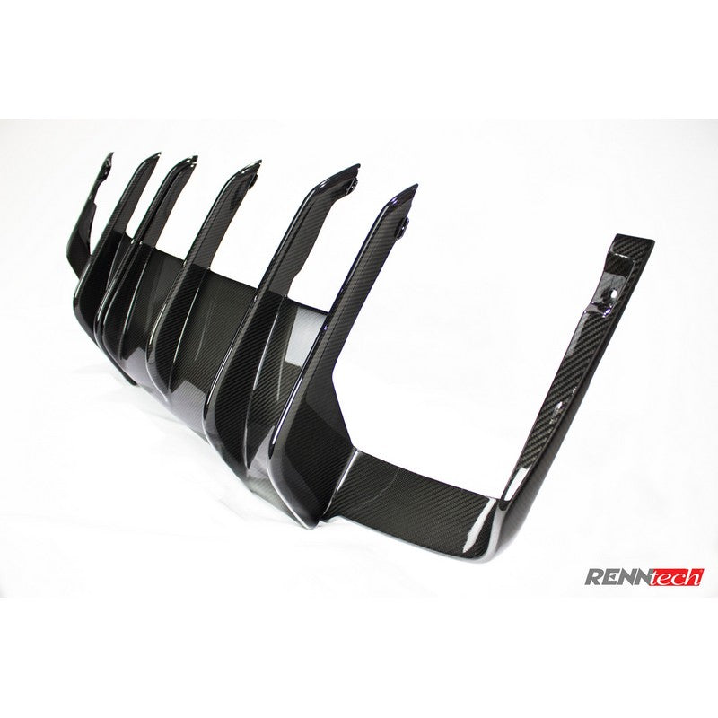RennTech Carbon Fiber Rear Diffuser For Mercedes-Benz W212 E 63 AMG Biturbo