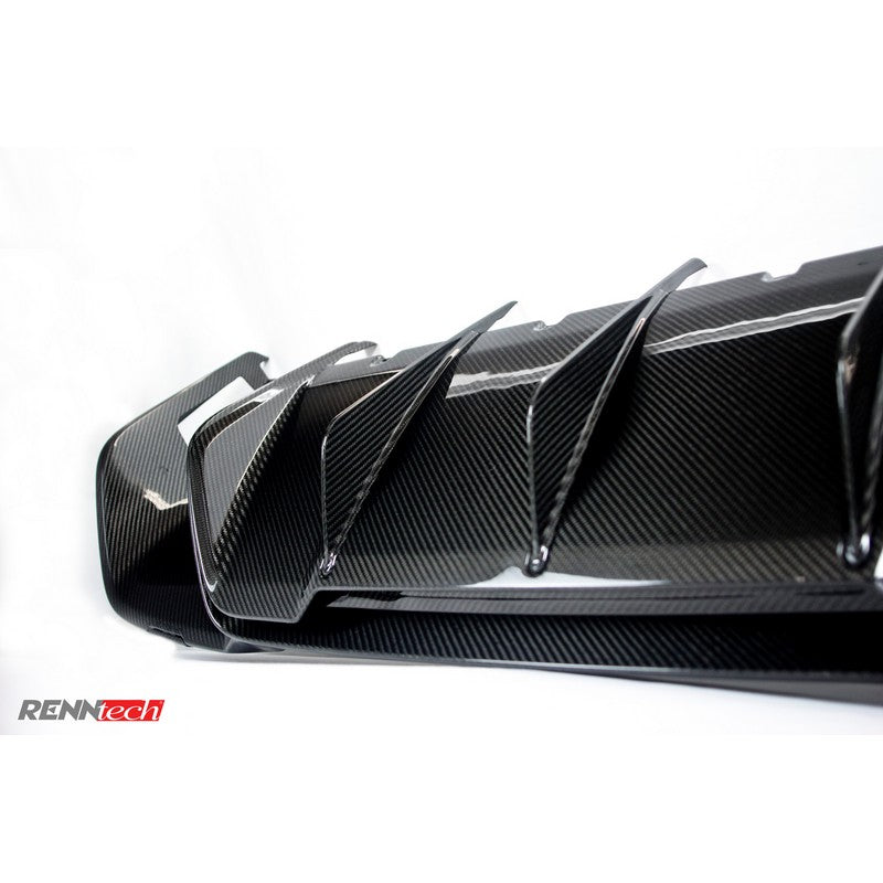 RennTech Aero Carbon Fiber Rear Diffuser With CMC Tips For Mercedes-Benz S212 E 63 AMG Biturbo