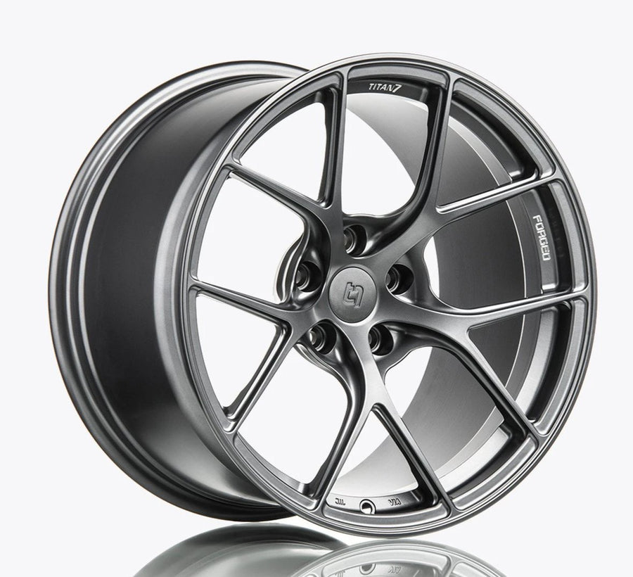 Titan 7 18 Inch T-S5 Forged Satin Titanium Wheel For Volkswagen Golf R - AutoTalent