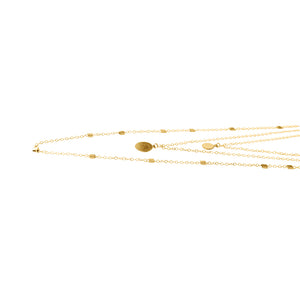3 in 1 Gold Layering Necklace | Playa Manzanillo