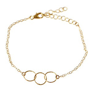 3 Ring Charm Bracelet | Vai Beach
