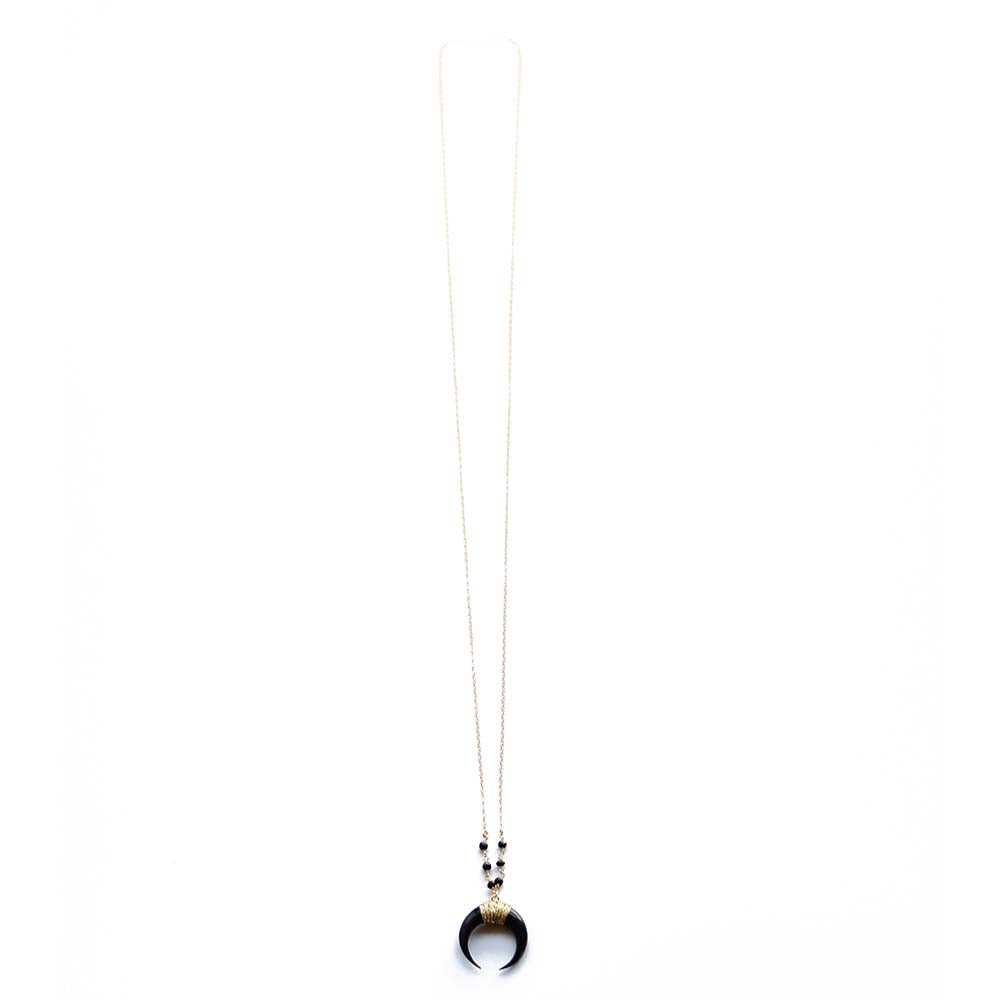 407982ce9325f Long Black Horn Necklace | Pailoa Beach