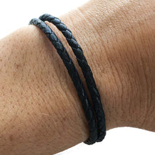Thin Unisex Black Leather Wrap Bracelet | Tulum