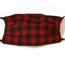 Black and Red Gingham Cotton Mask
