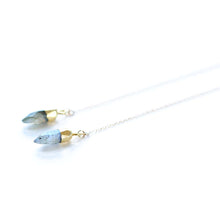 Labradorite Spike Threader Earrings | Cala Saladeta