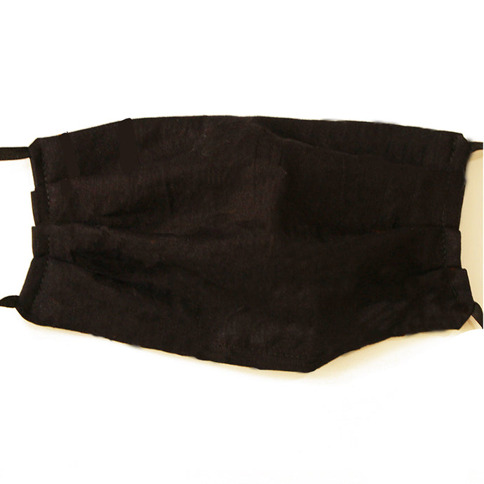 Solid Black Cotton Mask