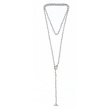 White Beaded Lariat | Cala Vadella