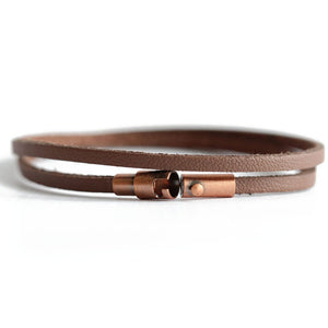 Brown Leather Wrap Bracelet | Vieques