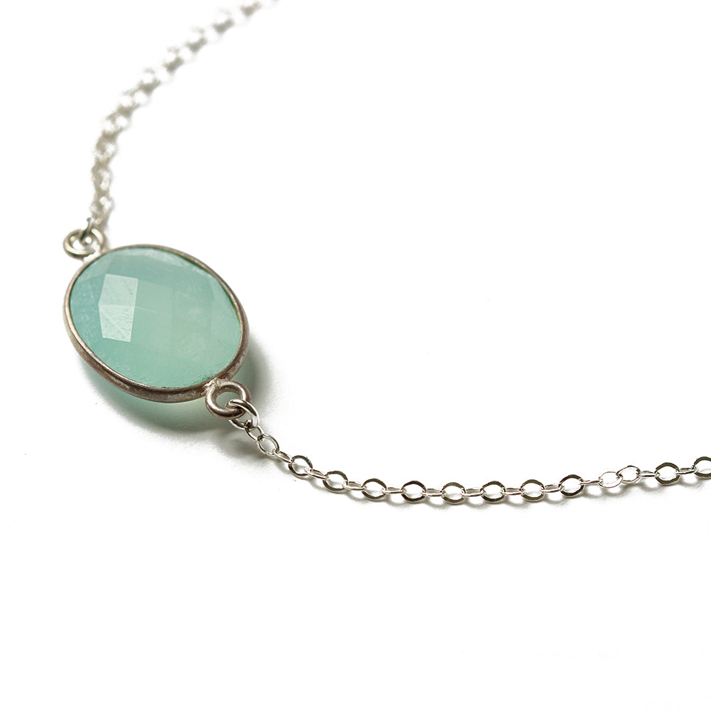 Silver Chalcedony Necklace | Semuc Champey