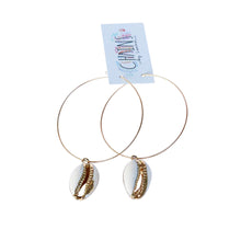 Cowrie Hoops | Sanibel Island