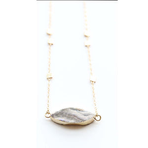 Druzy Stone Necklace | Seven Mile Beach