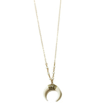 "White Horn Necklace 18""- 24"" 