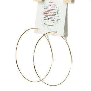 Gold Hoops | Colombier Beach