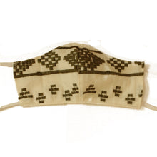 Olive Embroidered Cotton Mask