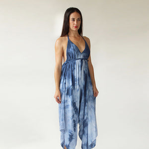 Chambray Colored Tie Dye Jumpsuit
