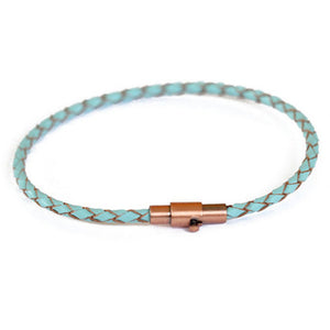 Thin Turquoise Leather Bracelet | Ocho Rios