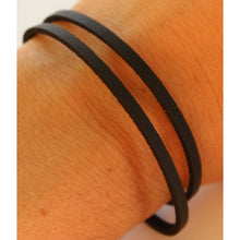 Black Leather Wrap Bracelet | Tulum