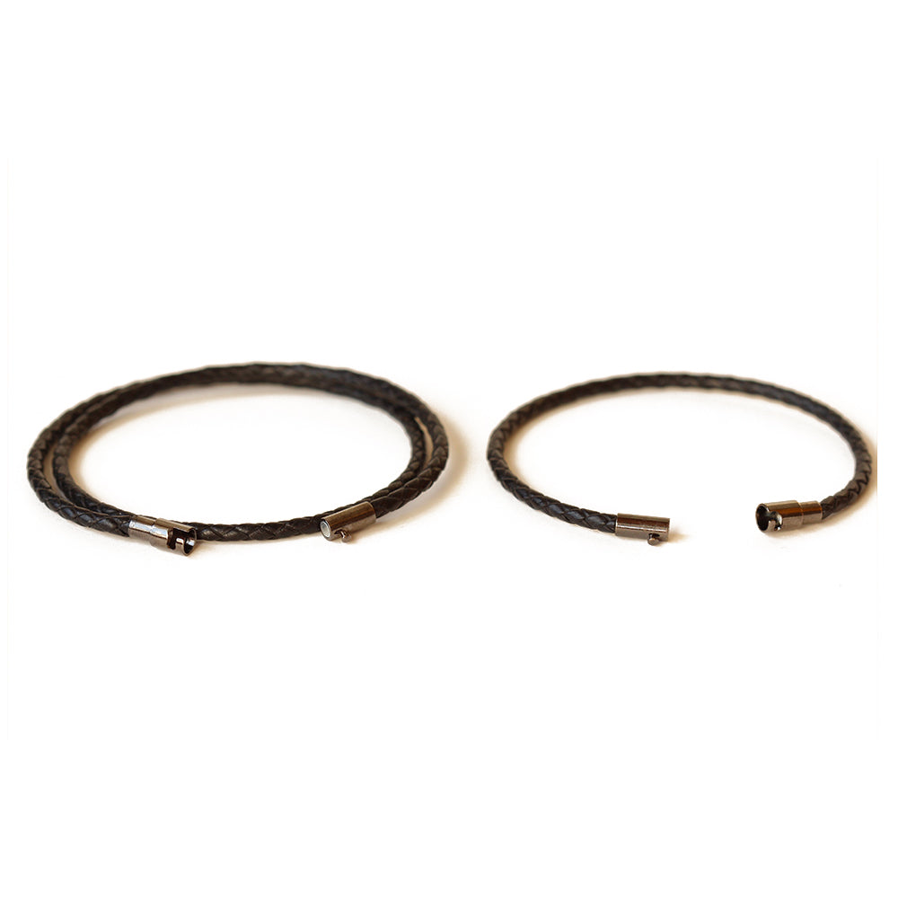 Thin Leather Couple Bracelets | Mallorca & Menorca