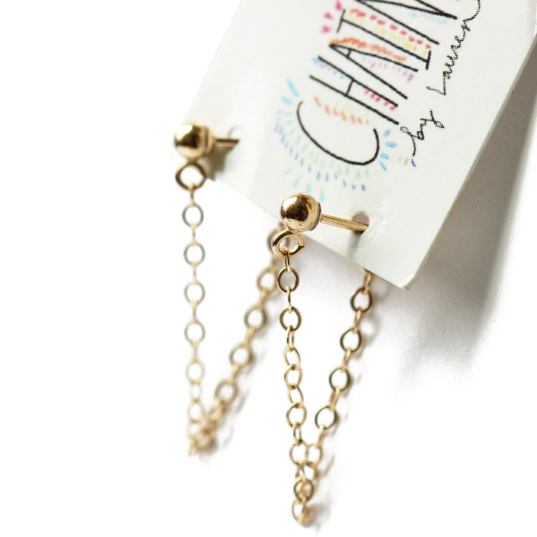 Gold Chain Loop Earrings | St. Jean Beach