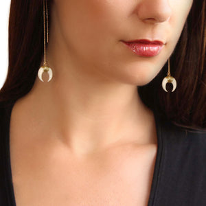 Horn Threader Earrings