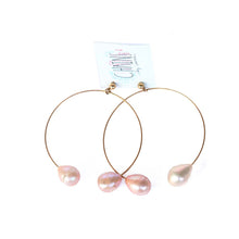 Split Pearl Hoops | Elafonissi Beach