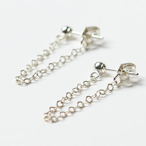 Silver Chain Loop Earrings | Anse de Grande Saline