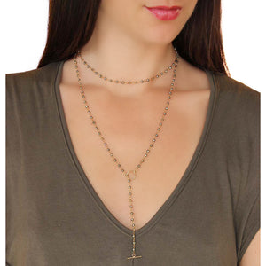 Pyrite Beaded Lariat
